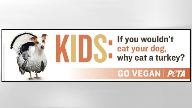 PHOTO: A recent PETA advertisement.
