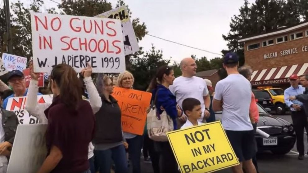 A protest outside a McLean, Va., gun store on Sept. 26, 2015.