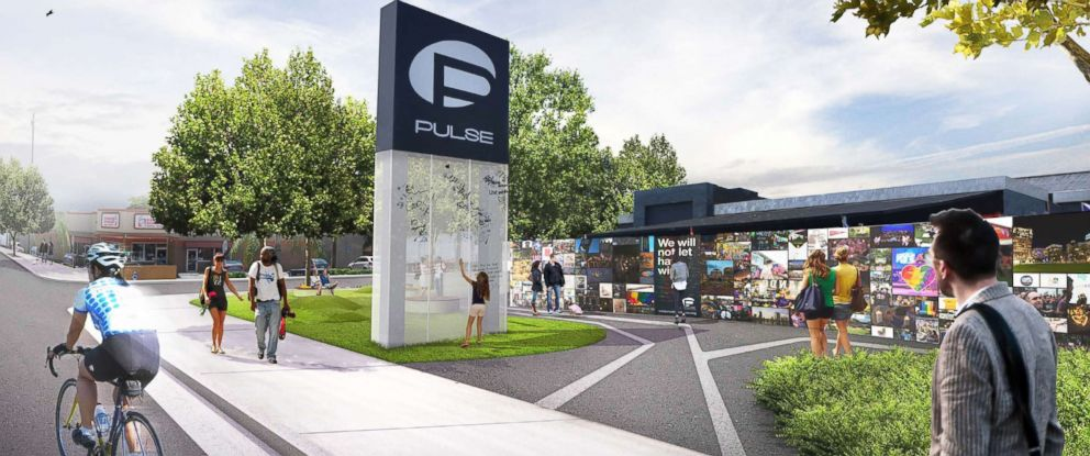 PHOTO: Construction on an interim memorial to honor the victims of the Pulse nightclub shooting massacre will begin Feb. 26, 2018. Here, a rendering of the memorial.