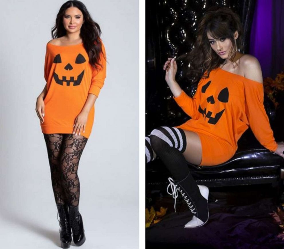 Yandy says it offers covered up costumes as well, such as this pumpkin costume.