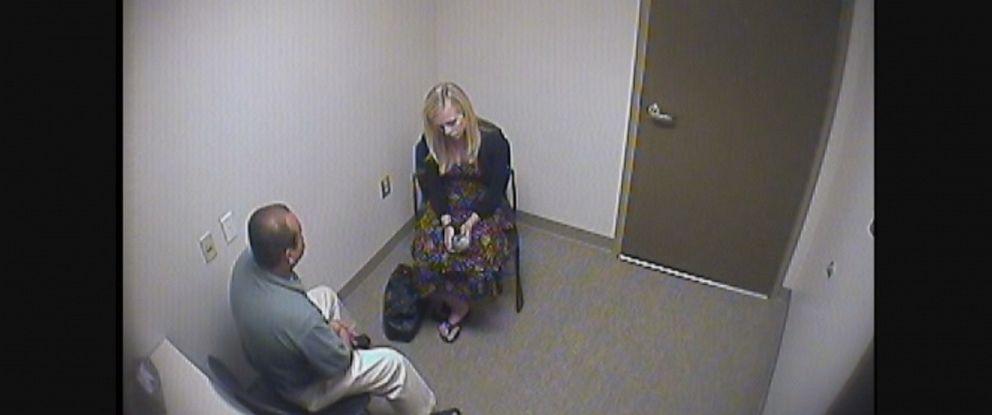 PHOTO: Rachel Buffett is seen here talking to Costa Mesa police in this 2010 interrogation video.