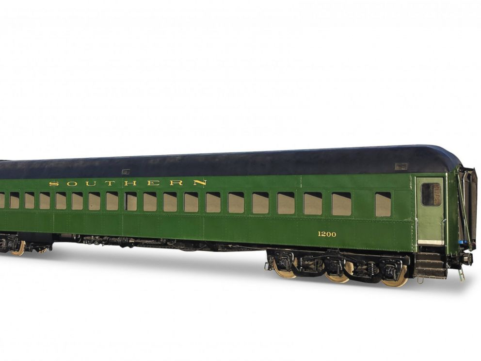 PHOTO: A Southern Railway No. 1200 heavyweight passenger coach with segregated compartments.