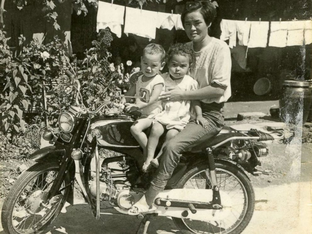 PHOTO: Pae Seong-Kuem or Connie with two of her children, James and Sandra.