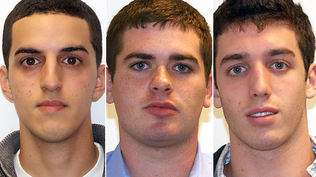 PHOTO: George Trane, 19, Joshua Chefec, 20, and Adam Justin, 19, turned themselves in to investigators on Long Island to face felony charges that they posed as students and took the SAT for others in exchange for money.