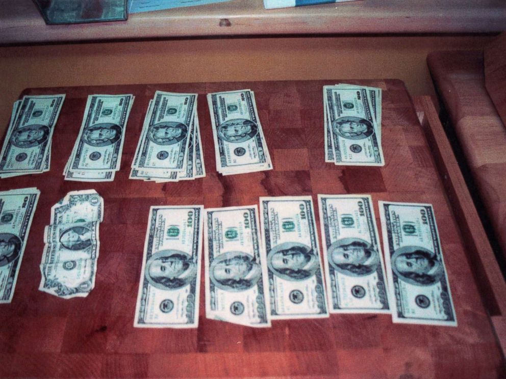 Money police say was found inside Scott Petersons car when it was searched in 2003.