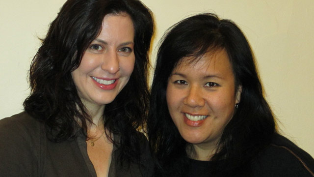 PHOTO: Kimberley Berdy and Joy Huang (R) are co-founders of Secret Sandy, an online gift-giving exchange where donors can give anonymously by accessing the wish lists and needs of families through Amazon.