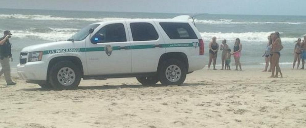 PHOTO: A man was taken to the hospital after he was attacked by a shark, July 1,2015, off the coast of Okracoke Island, N.C.