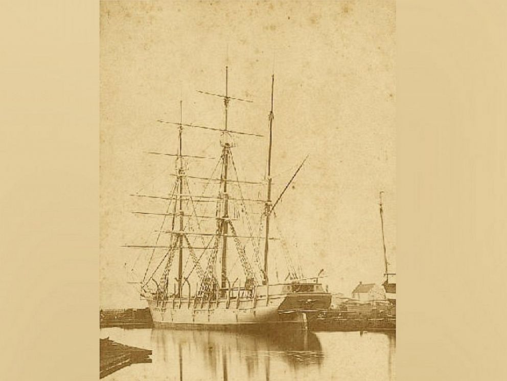 PHOTO: The Concordia, one of the ships trapped by pack ice close to the Alaskan Arctic shore in 1871, hailed from New Bedford, Mass.