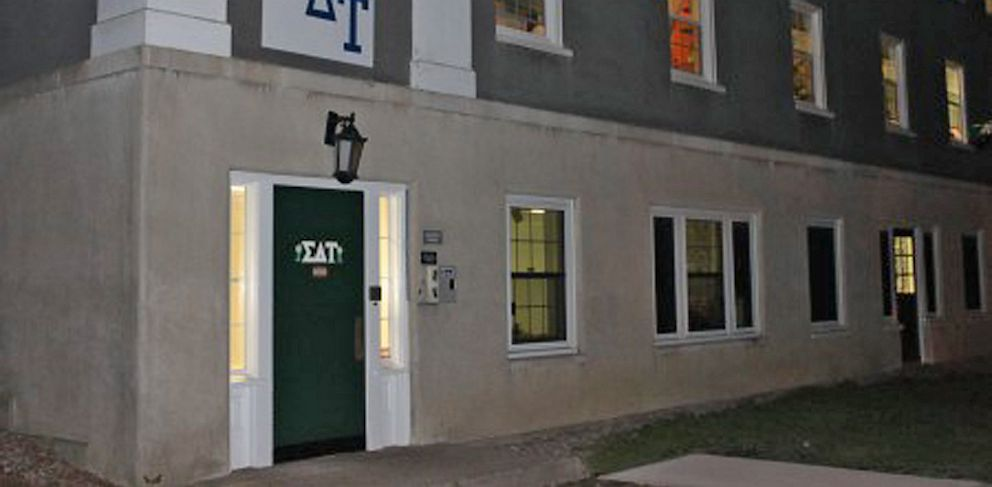PHOTO: The outside of the Sigma Delta Tau sorority house at Union College in New York is seen here.