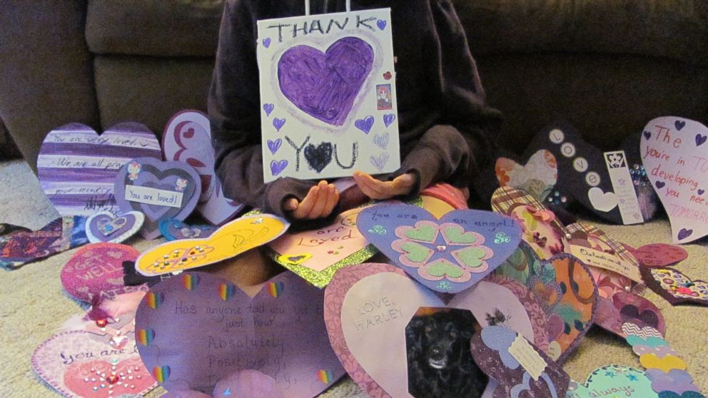 The victim of the Slender Man stabbing in Wisconsin has released photos thanking people for their support.
