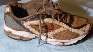 PHOTO The RCMP and BC Coroners Service are investigating the remains of a right foot found on Oct. 27, 2009 on the beach at No. 6 Road and Triangle Road in Richmond,