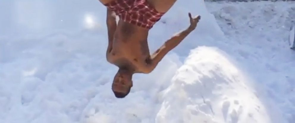 """PHOTO: An Instagram user posted this video on Feb. 15, 2015 with the hashtag """"#BlizzardChallenge2015."""""""