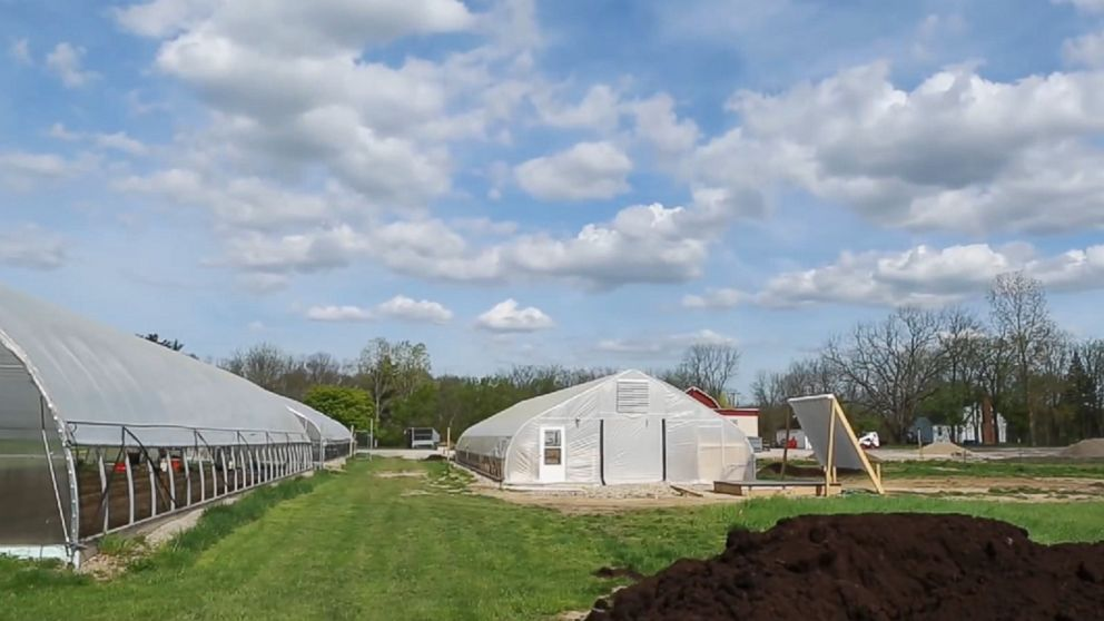 """A screen grab from """"The Farm at St Joseph Mercy Hospital"""" video on YouTube."""