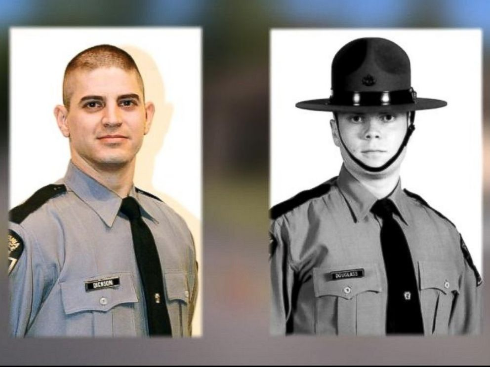 PHOTO: One trooper was killed and another was injured in a shooting at the State Police Barracks in Blooming Grove Township, Pa., Sept. 12, 2014.