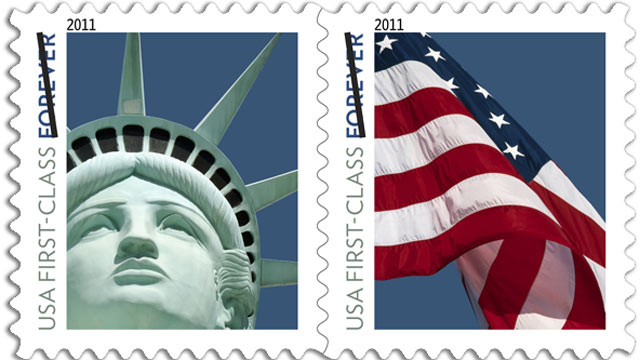PHOTO: The United States Postal Service has issued a new stamp showing the Statue of Liberty.