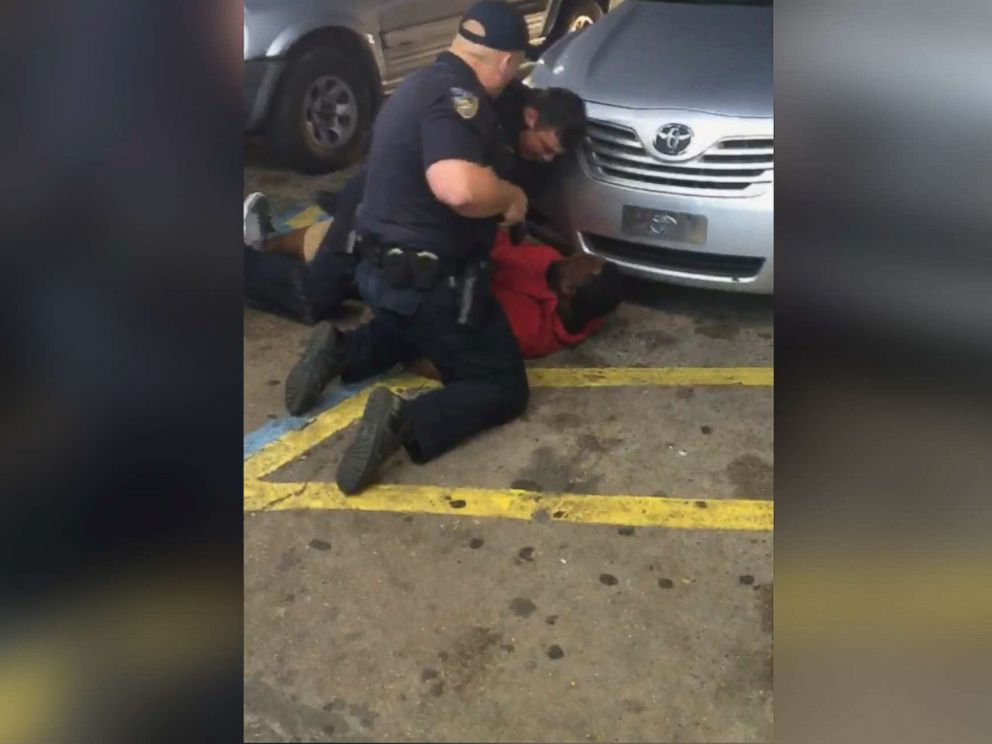 PHOTO: Video shows the fatal shooting of Alton Sterling during a confrontation with police officers outside the store in Baton Rouge, Louisiana.
