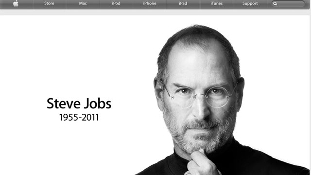 PHOTO: A Screenshot Of The Apple Website Confirms That Steve Jobs Has Died,  Oct