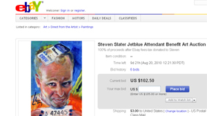 PHOTO Painter Dan Lacey is doing his part to help flight attendant Steven Slater.