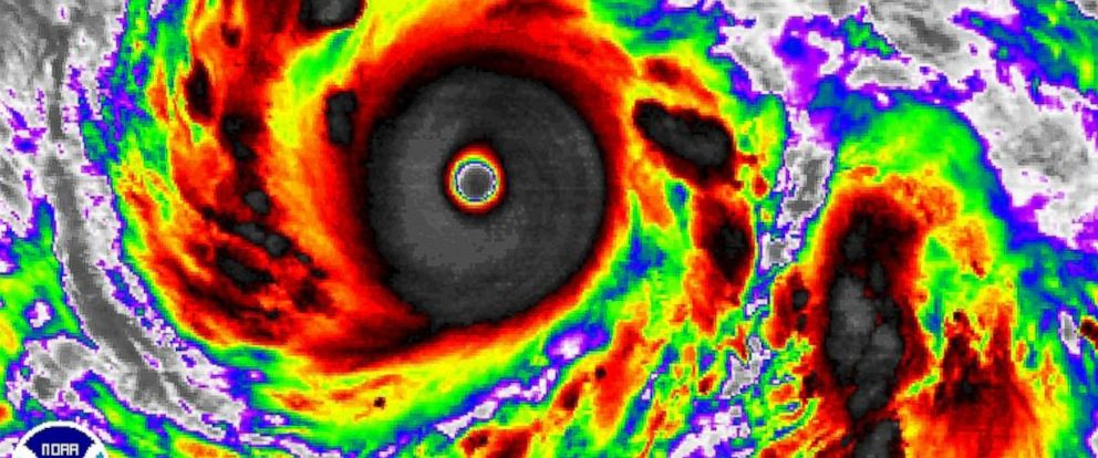 PHOTO: Super Typhoon Vongfong is pictured by a NOAA satellite on Oct. 7, 2014.