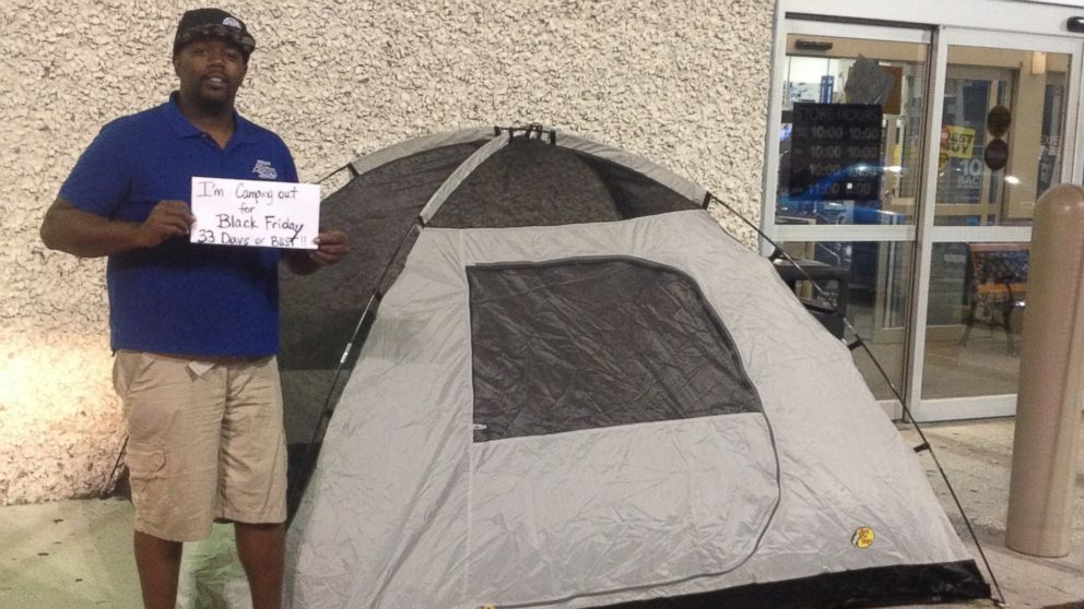 Why This Florida Man Is Already Camping Out At Best Buy For Black Friday Abc News