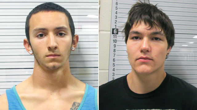 PHOTO: Suspects Stephen Hammer, 19, left, and Tanner Vanpelt, 18, both of Cody, Wyo., are facing charges in the deaths of three people.