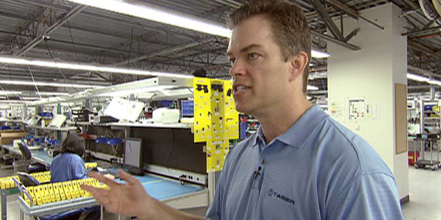 "PHOTO: Rick Smith, who founded Taser International with his brother Tom Smith, takes ""Nightline"" through a tour of the companys Scottsdale, Ariz., manufacturing facility."