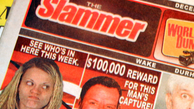 PHOTO: The Slammer is one of the fastest growing newspapers in the United States, and it only prints mug shots.
