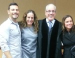 PHOTO: Massimiliano Gerina, Maria Italiano and Cher Filippazzo have all been approved by Judge Antonio Marin (third from left) to all be listed as parents of a 23-month-old girl in South Florida.