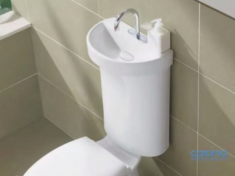 PHOTO: A concept from Caroma for a toilet-sink that would conserve water.