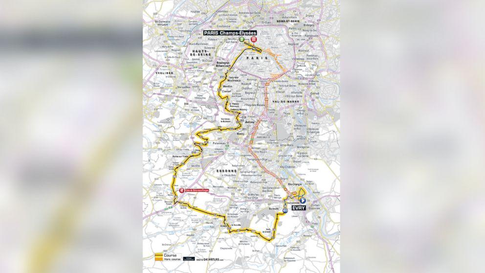 The men's course for the Tour de France.