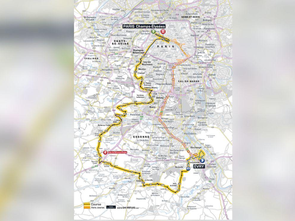 PHOTO: The mens course for the Tour de France.
