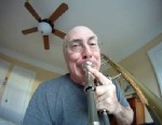 PHOTO: New York Philharmonic trombonist David Finlayson attached a GoPro camera to his trombone as he practiced.