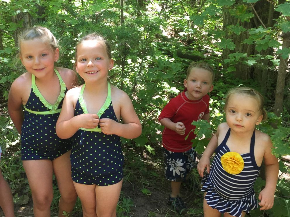PHOTO: Madison, McKell, Kole, and Hallie are pictured in June 2015.