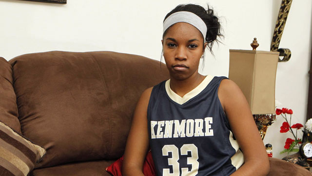 PHOTO: Tyra Batts of Kenmore East High girls varsity basketball team