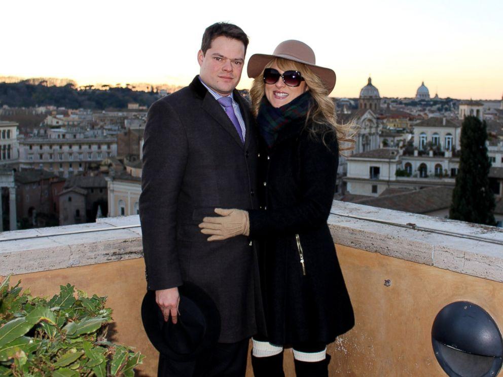 PHOTO: Jonathan Binaghi and Miranda Emde visiting each other in Rome.