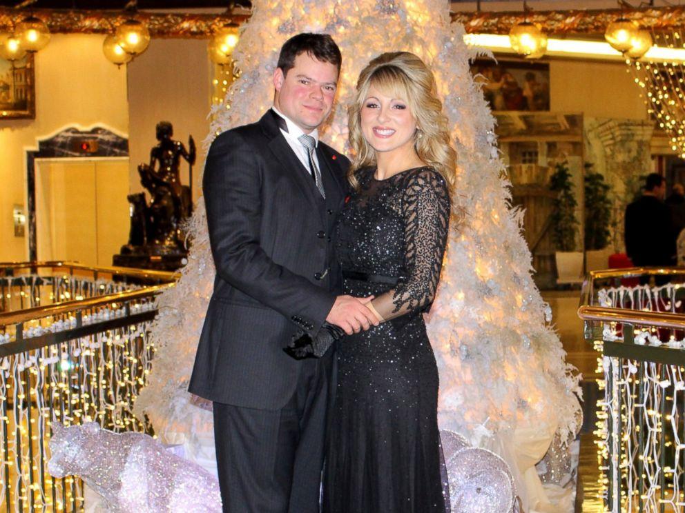 PHOTO: Jonathan Binaghi and Miranda Emde at Christmas Eve mass at St. Peters Basilica.