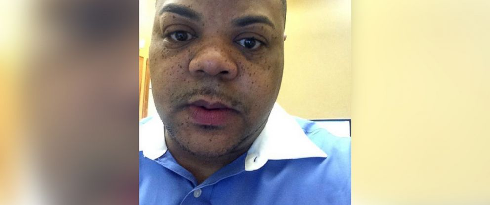 "PHOTO: This image was posted to Vester Flanagans Twitter account under his on-air name ""Bryce Williams"" on Aug. 19, 2015 with the text, ""While at a workers comp company in Roanoke, Va."""