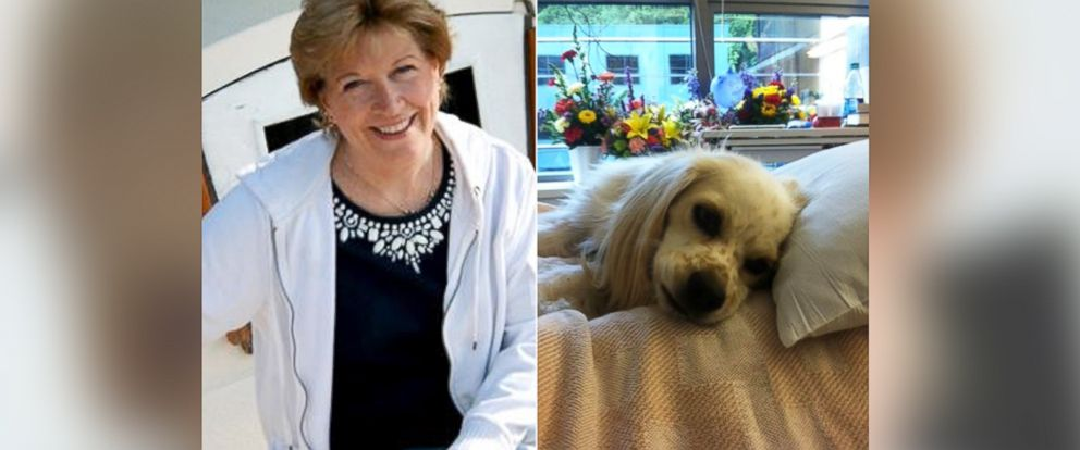 PHOTO: Vicki Gardner, left, and her dog Buddy, right, are pictured.