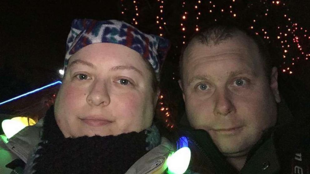 Zack Willhoite (right, with wife Taylor Tomblin) was one of the fatalities in the derailment of an Amtrak train in Washington State on Dec. 18, 2017.