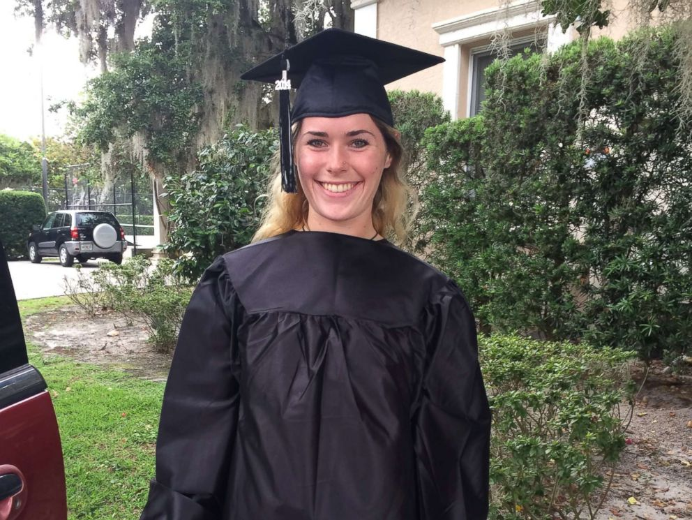 Victoria Siegel is seen here in her cap and gown on her high school graduation day. The book Victorias Voice: Our Daughters Losing Battle with Drug Abuse is available now.