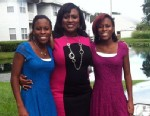 PHOTO: Sixteen-year-old twins Kiera and Kayla Wilmot with their mother, Marie, in Bartow, Fla.