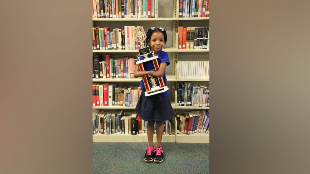 Virginia first-grader Anaya Ellick, 7, beat out 50 other contestants to win the 2016 the Nicholas Maxim Special Award for Excellence in Manuscript Penmanship.