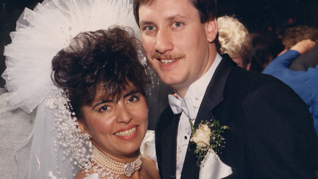 PHOTO: This undated handout photo of Edward Smith and Monica Rodriguez Smith on their wedding day; Monica was one of the six victims who lost their lives when a truck bomb detonated in below the North Tower of the World Trade Center on Feb. 26, 1993.