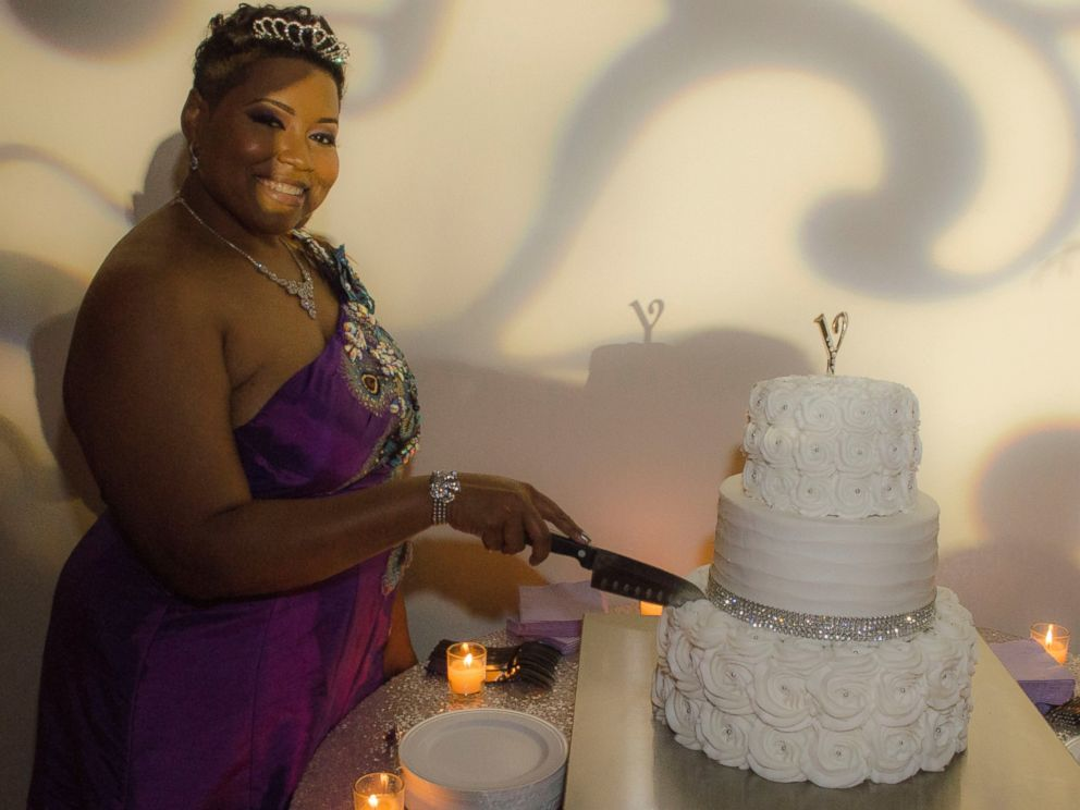 PHOTO: Yasmin Elebi, 40, married herself in a wedding and reception hosted at the Houston Museum of African American Culture.