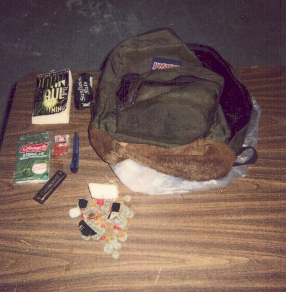 Lenna said Cary Stayner always carried a backpack. Authorities described it as his murder kit.