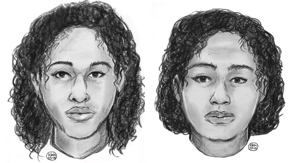 Police sketches of the two women found taped together in the Hudson River on Oct. 24, 2018.