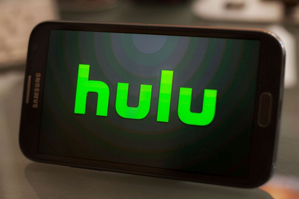 PHOTO: Hulu logo on a smartphone.