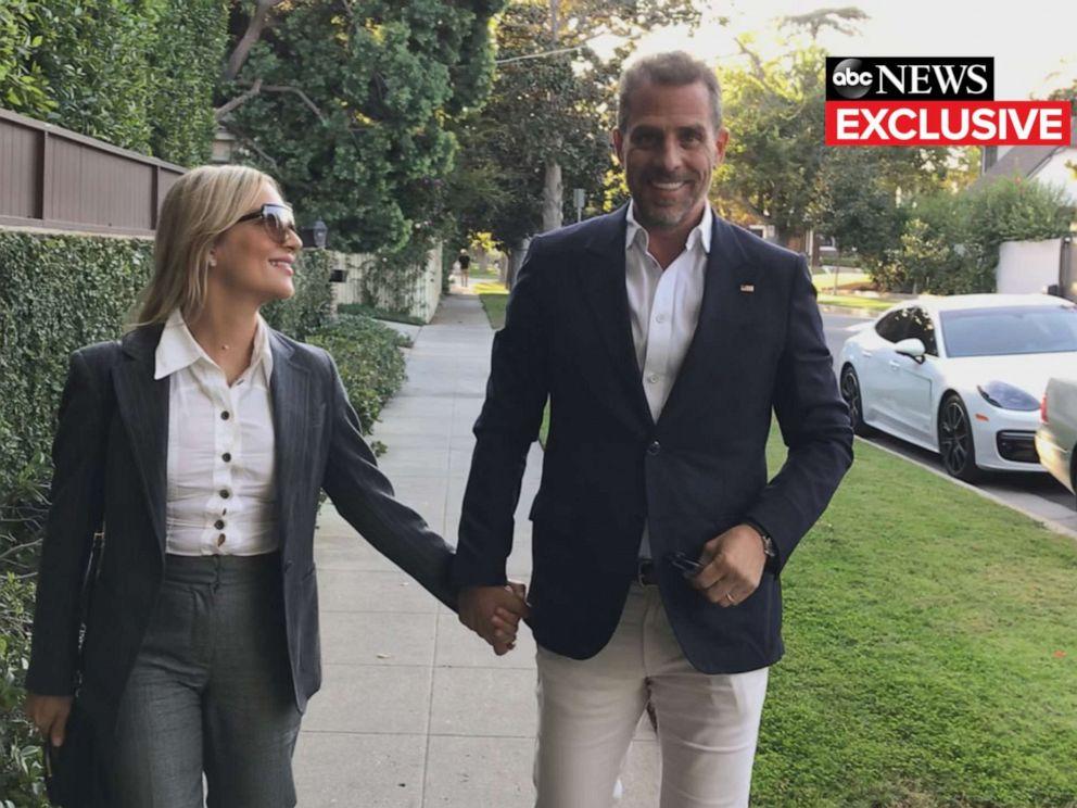 PHOTO: Melissa and Hunter Biden walking to Joe Biden's fundraiser in Los Angeles (Hancock Park) last Friday.