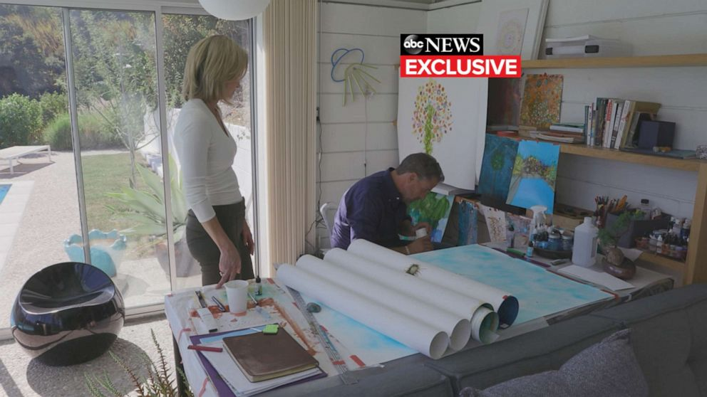 PHOTO: Amy Robach and Hunter Biden at his art studio at his home in Los Angeles.