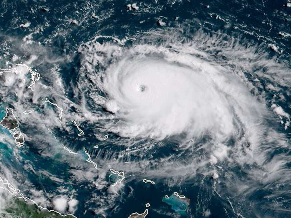 PHOTO: This satellite image obtained from NOAA/RAMMB, shows Tropical Storm Dorian as it approaching the Bahamas and Florida at 13:430UTC on August 31, 2019.